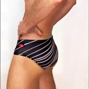 AussieBem Swim - The Striped Swim Brief XS